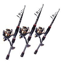 Wholesale Top Quality Telescopic Baitcasting Rod And BB Reel Set Carbon Lure Fishing Rod Bass Lure Fishing Pole