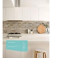 backsplash for kitchen - Fine Long strip TV background Kitchen backsplash tiles for Bathroom wall tiles Glass Mosaic tile flooring tiles kitchenroom backsplash