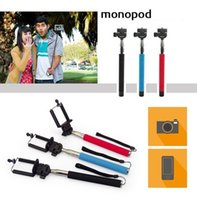 Wholesale 50 sets Portable Extendable CM Monopod with Universal CM Clip Holder for Camera DV Camcorder for iphone Samsung HTC LIGHT