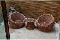 Wholesale NEW arrivals natura rattan outdoor furniture living room hotel hell leisure chair sofa tabel sets
