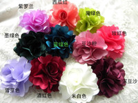 fabric flower pin - Bride peony big fabric flower Fashion Fabric Flower Hairpin Corsage Brooch Hair Clips Flower Corsage Brooch Pins Women Flower Headwear beach