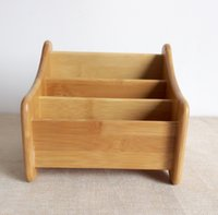 Wholesale Natural MOSO Bamboo Storage Holder Desk Sundries Rack