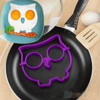 Wholesale Cute Silicone Skull Owl Egg Fried Shaped Mould Shaper Ring Kitchen Cooking Tool MBV NMH
