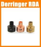 Precio de Atomizador derringer-Más reciente Derringer RDA atomizador 510 hilo 22mm Derringer RDA control de flujo de aire RBA atomizador Derringer atomizador ATB166