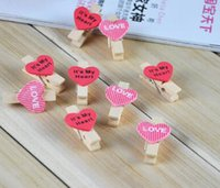 Wholesale 2016 new Mini Fashion Cute Special Gift Wooden Star Baby Cute Photo Paper Clips Bag Clip