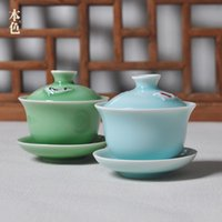 Wholesale Specialty of China Ceramic cup Elegant home decorations Celadon crafts Handmade works of art Fine art Classic Tea Creative Gifts Tureen
