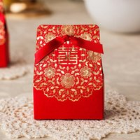 asian wedding favors - Asian Theme Red Wedding Favor Box Double Happiness New arrival Marriage Candy Box Gift Box Favor Holders Wedding Favors CB507