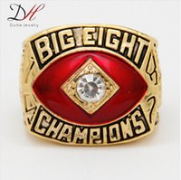 championship ring - 2015 Hot Selling Sport Jewelry Oklahoma Football quot Big Eight quot Conference Championship Ring Gold Plated Alloy Rings For Men Collection