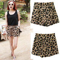 Wholesale Women New Classic Leopard Casual Shorts Hot Short Pants Trousers Elastic Waist