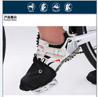 Wholesale 2015 Waterproof Cycling Shoe Covers CHEJI New Arrival High Quality Sport Shoe Cover Winter Road Bicycle Bike Overshoe Fleece Thermal Black