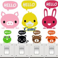 Cheap ShineLi 7 Colors Hot Bedroom Cute Wall Decorating Switch Vinyl Home Decal Sticker Decor Cartoon Book