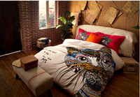 giraffe print - German style colorful cat horse giraffe bedding sets fashion king queen size d comforter bedding sets
