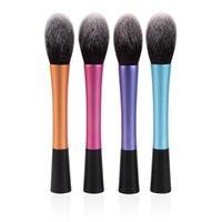 Wholesale Make up brushes blush brush New Color Long material Handle soft Synthetic Hair professional cosmetic powder kabuki blending