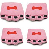 Wholesale Pink Dog footprints Warm Soft Pet Dog Cat Bed Basket House Kennel Doggy Cushion Mat Warm Cushion Basket BT38
