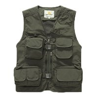 arrival outdoor advertising - Hot New Arrival summer outdoor casual clothing advertising photographer vest male tooling Multi Pocket vest