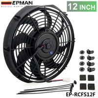 Wholesale TANSKY EPMAN Racing Car Universal V quot Electric Fan Curved S Blades Radiator Cooling Fan For Radiator Oil Cooler EP RCFS12F