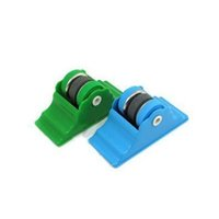 Wholesale 1PC Knife Sharpener Stone Abrader Two Grinding Wheels Kitchen Knife Sharpening