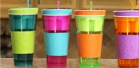 Wholesale 4 Style Multifunction Snackeez Cup Snack Cup Newest Snackeez Snack Drinkware the all in one Drink and Eat Cup H470