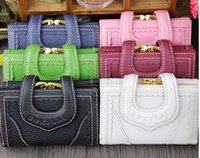 Wholesale 1PCS Lady Real Leather Wallet Lady Holders Lady Pu Leather Wallets Women Clutch Bag Lady Handbags Coin Purse
