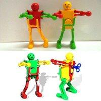 Wholesale 10pcs Red Yellow Green Clockwork Spring Wind Up Dancing Robot Children Kids Toy Gift Wholesales