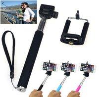 camera tripod - Universal Extendable Handheld Monopod Self Portraits Selfie Stick Tripod Phone Holder For Iphone Samsung Camera