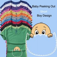 Wholesale Arc Angel Funny Pregnant Maternity T Shirts Casual Pregnancy Maternity Clothes With Baby Peeking Out Maternity Shirts Cotton Top Tees