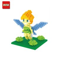 age birthday present - Tinker Bell Mini Action Figures Flower Flying Fairy Doll DIY Building Blocks Toy Classical Birthday Present Gift for Girls