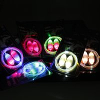 Wholesale Factory Sale Colorful Neon LED Flashing Shoelaces Disco Party Light up Laser Shining Shoe laces with Retail Packing Christmas Gift