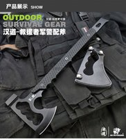axe and hatchet - Outdoor Military Axe Stone Wash Fine cast Hatchet and Axe Multifunction Fiberglass Handle Tomahawk Hammer camping