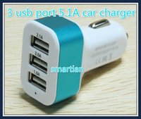 Wholesale 5pcs A mah usb port car charger for iphone sumsung s6 cellphone universal mobile phone tablet pc pad