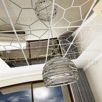 aluminum hexagon - 7pcs Per Set D Mirror Hexagon Vinyl Removable Wall Sticker Decal Home Decor Art DIY