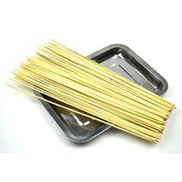 Cheap Bamboo Skewers Lot Bamboo Wooden BBQ Party Skewers Disposable Sticks Meat Food Long Catering Grill Camping