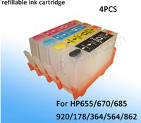 empty ink cartridges - 4 colors empty refillable ink cartridge with chip for HP364 for HP printer