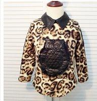 Cheap Children Thick Warm Leopard T Shirt Tops Kids Leopard Outwear Children Clothing 5 Pcs lot J1D598