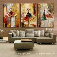 Wholesale Hand Painted Modern Abstract Oil Painting on Canvas Wall Art for Living Room Decor Gift Ballet Dancer Picture Canvas Painting