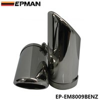 exhaust pipe for muffler - EPMAN x Stainless Steel Chrome Tip Exhaust Muffer Pipe For BENZ C180 W204 Car EP EM8009BENZ