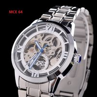 Fashion luxury watches - 1pcs classic silver band watch alloy metal Mechanical watch mens watch luxury watches