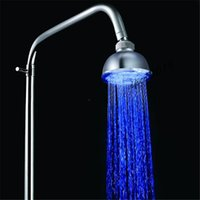 Wholesale 2016 Freeshiping New LD8010 A1 RGB Romantic Color Temperature Sensor LED Shower Head Bathroom Sprinkler H4738