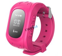 Wholesale Digital Smart Small GPS Watch Tracker Locator Emergency Call Remote Monitor Alarm For Kids Children Pets