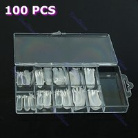 Cheap Free Shipping 100pcs pack Dual Form Nail System For UV GEL Acrylic Nail Art Mold Tips Decoration
