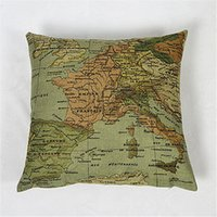 bedrooms ikea - world map pillow bedroom decorative pillowcases cotton linen pillow case Ikea Art Decorative Cojines