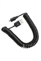 Wholesale Spiral Coiled USB A Male to Micro USB B Pin Adaptor Spring Cable ST1