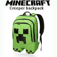 Wholesale Minecraft Backpack Minecraft Creeper backpack School Bag Good Quality