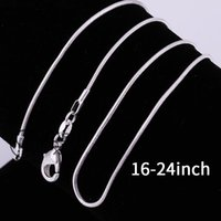 Wholesale 2016 hot silver snake chain vintage necklace hot sale MM inch bulk rantai kalung ular