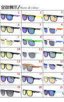 Wholesale 21 color ken block HELM glasses retro sunglasses sunglasses tide brand men s sport sunglasses color reflective lenses MOQ FREESHIPPING