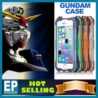 Wholesale For iphone cases iphone S S samsung galaxy s5 note Luxury Heavy Duty Gundam Series Style Metal Case with Retail Package at retail