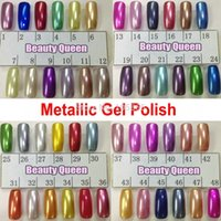 Wholesale 48 Colors Metallic Mirror Nail Gel Polish Soak Off UV LED Metal Color Lamp Cure Curing Coat for Nail Art Professional Salon NEW