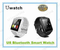 Wholesale U8 Smart Bluetooth Watches WristWatch U8 U Watch for iPhone S S Samsung S4 S5 Note Note HTC Android Phone Smartphones MQ50