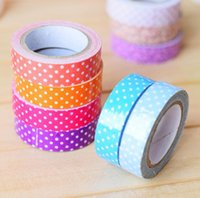 Wholesale Candy colors can write hand tore and paper tape DIY paper tape color tape office supplies