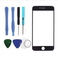 Cheap For iphone 6 6 plus Out Glass Lens Front LCD touch screen replacement Part with tools for iphone 4 4S 5 5S 5C 6G 6 plus 6